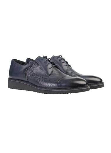 White Stone Ayakkabı Siyah Antik Minik Hasır Lacivert